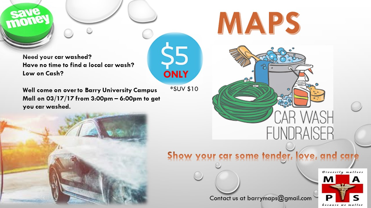 listen up need your car washed or you re just at lunch break but don t know what to do then come out and join maps in their car wash fundraiser