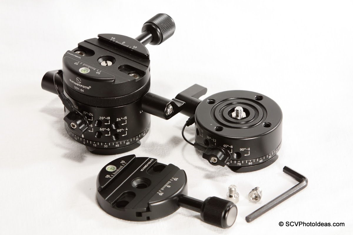 Sunwayfoto DDY-64 Discal QR Clamp on DDP-64MX & DDP-64SX Panoramic Indexing rotators + tools