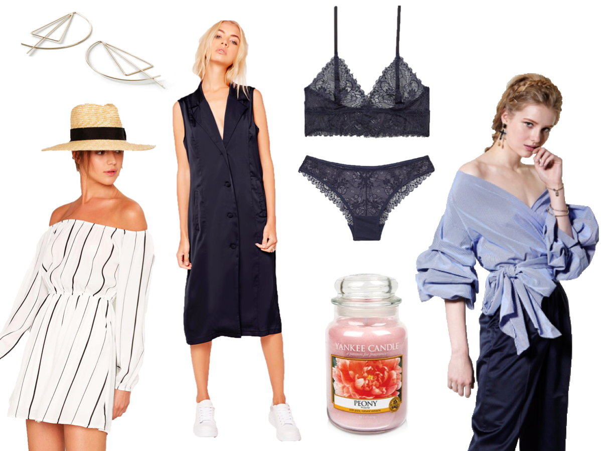 fashion blogger, style, lust list, high street, topshop, nasty gal, lingerie, earrings, mango, yankee candle