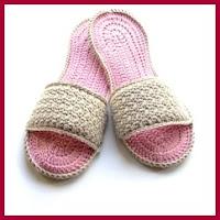 Sandalias de spa a crochet