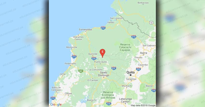 Sismo en Ecuador de Magnitud 4.9 (Hoy Sábado 15 diciembre 2018) Temblor Epicentro - Quininde - Esmeraldas - IGEPN - www.igepn.edu.ec