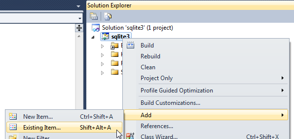 How To Compile SQLite Source Code for Windows with Visual Studio