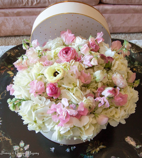 bridal shower centerpiece and flower idea
