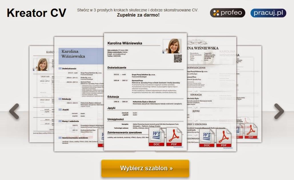 Narzędzia I Aplikacje Internetowe Kreator Cv