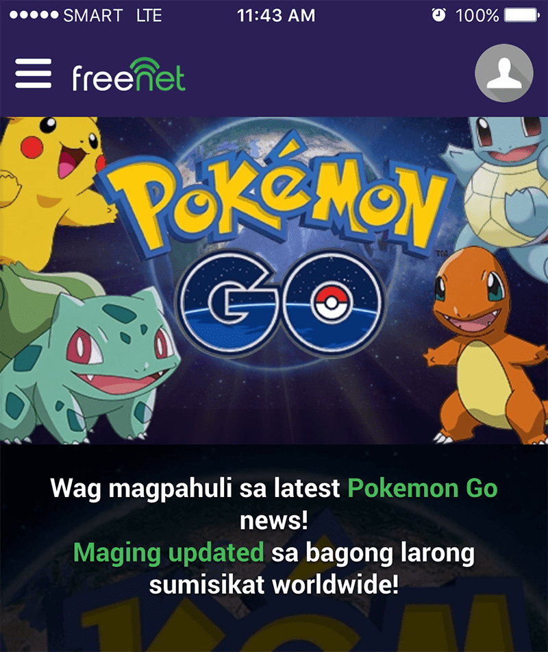 Get The Latest Updates About Pokemon GO In PH Using Freenet!