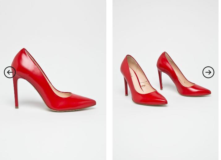 Wojas - Pantofi cu toc inalt rosii din piele naturala