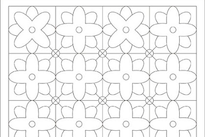 Mewarnai Gambar Batik Sederhana