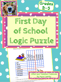back to school, logic puzzles