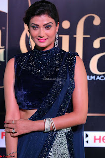 Ishita Vyas in Velvet Sleeveless Choli Designer Saree at IIFA Utsavam Awards 2017  Day 2  HD Exclusive 06.JPG