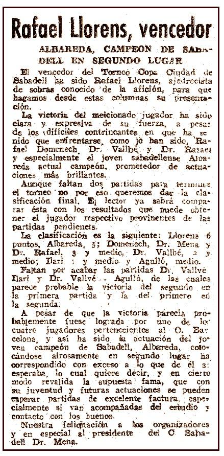 Recorte de El Mundo Deportivo, 1 de agosto de 1941
