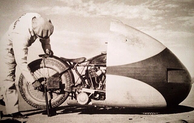 Indian 'Arrow' in 1937 at Bonneville