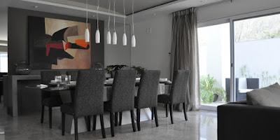 comedor casa muestra contemporanea san carlos residencia