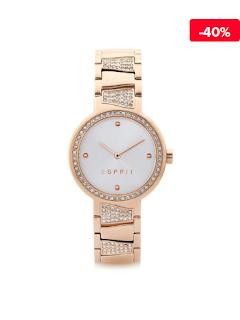 Ceas elegant auriu de dama Esprit Core ES107402003