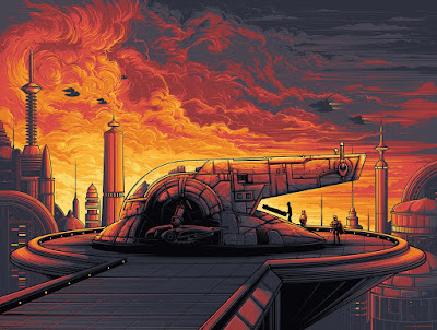 "Star Wars: The Empire Strikes Back ""Cloud City"" US Variant Screen Print by Dan Mumford x Dark Ink Art"