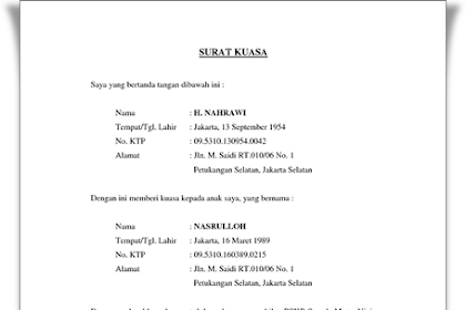 Download Surat Kuasa Pengambilan Bpkb Motor Background