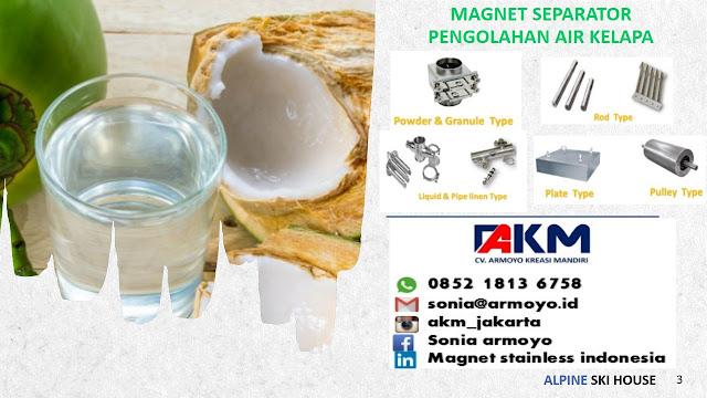 magnet separator air kelapa