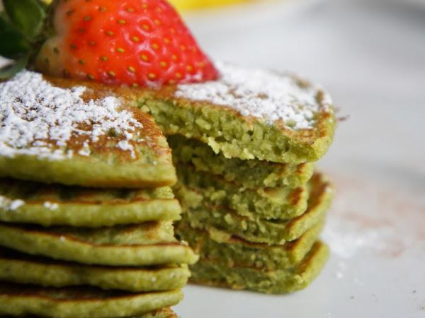 REZEPT: glutenfreie Matcha Pancakes