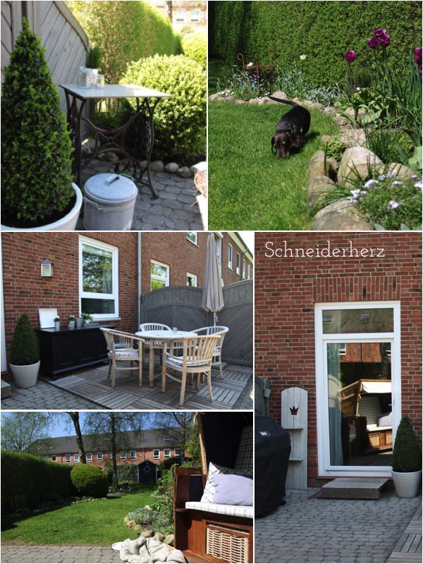 Terrasse gestalten Reihenhaus Außenküche DIY
