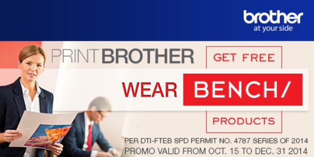 Print with Brother and Wear Bench Promo