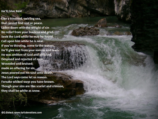 rushing water, song lyrics
