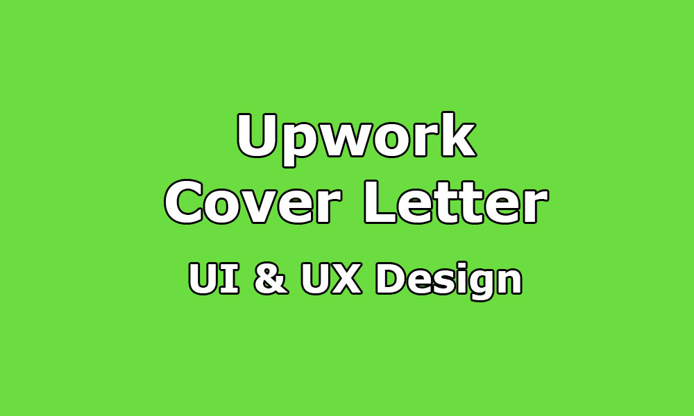 Upwork Cover Letter Sample For UI & UX Designer