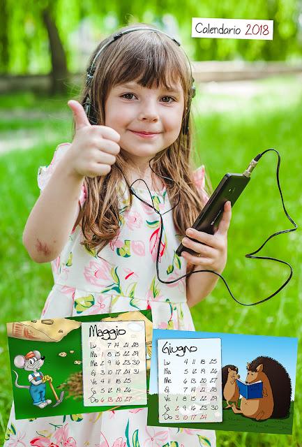 Calendario bimestrale 30x45 per bambini