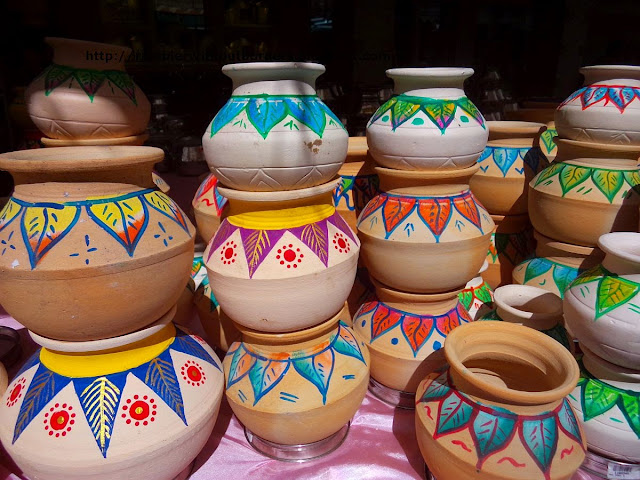 Clay pots to cook rice in Pongal Festival, Singapore