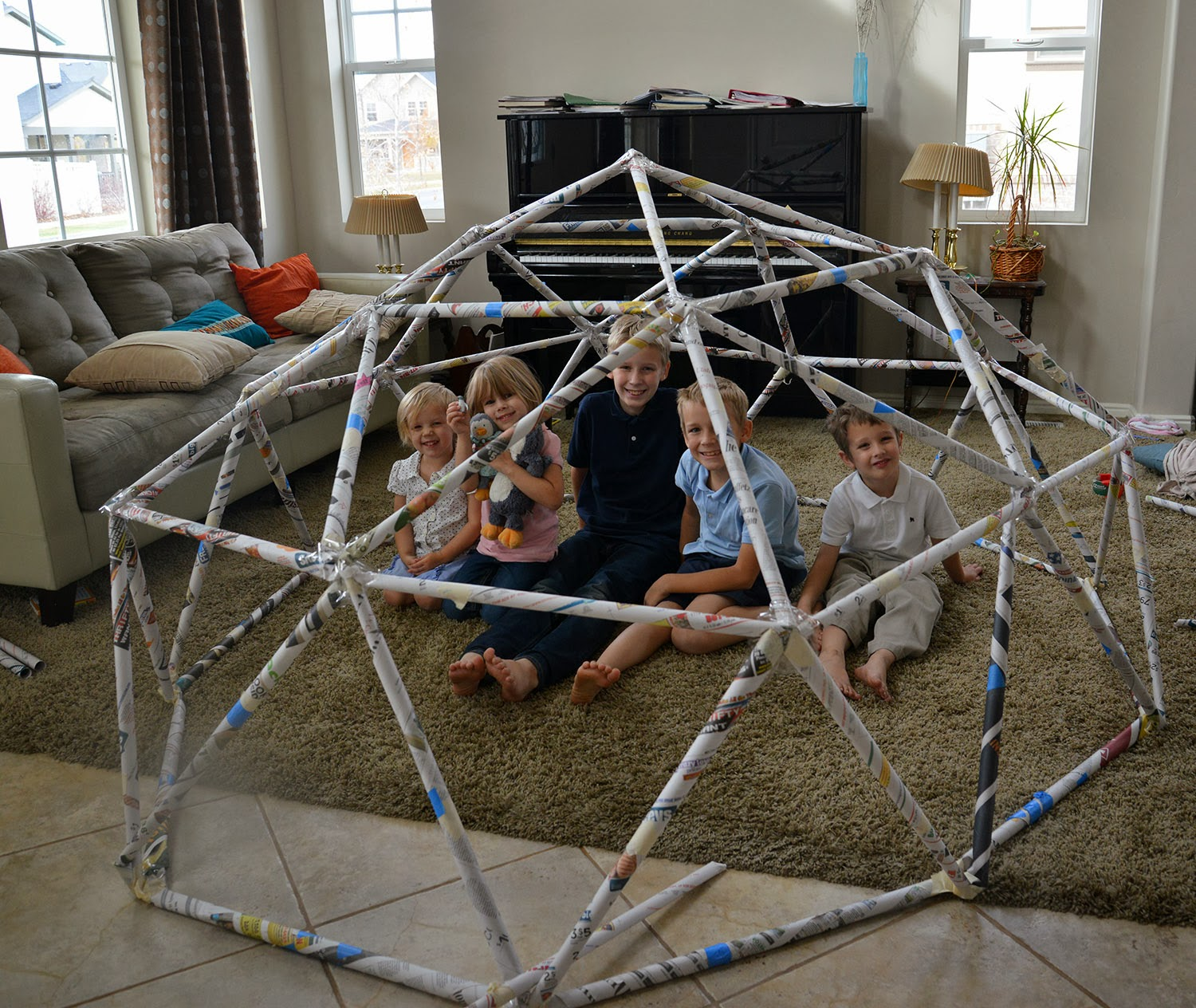 A School Of Fish Building A Geodesic Dome