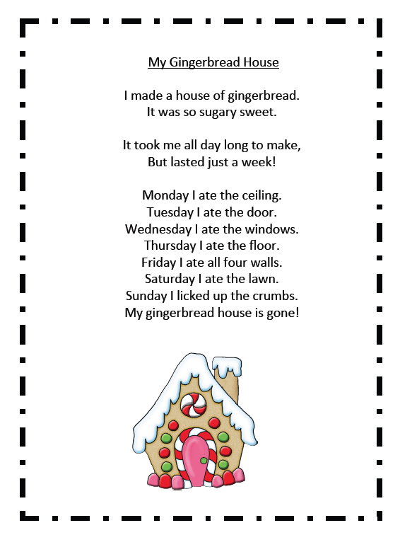 Gingerbread Fun and Freebies. Super cute gingerbread song and free printable poem. Plus 2 gingerbread math freebies and a spelling/writing activity. #gingerbreadman #christmas #gradeonederful