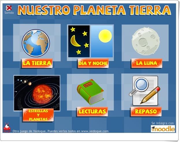 """""""Nuestro planeta Tierra"""" (Actividades interactivas de Ciencias Sociales de Primaria)"""