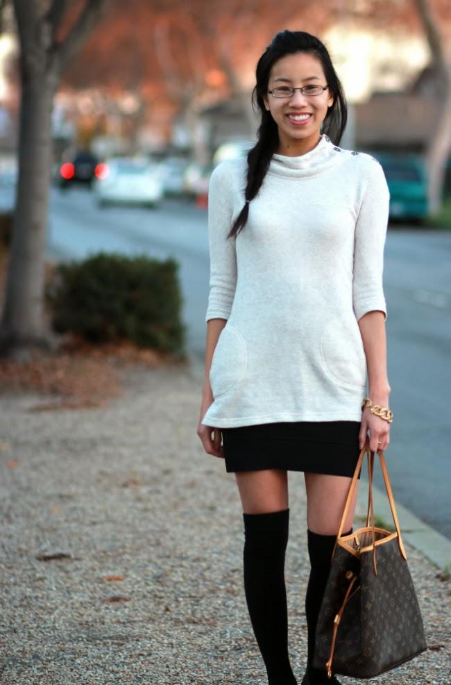 7a88b520c2c bcbg bandage power simone skirt black. tunic outfit winter fall trend turtleneck  mockneck