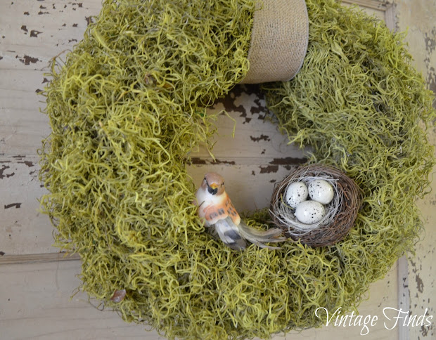 Vintage Finds Spring Moss Wreath