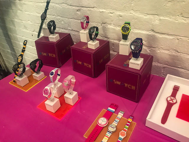 Neon Swatch Watches Display
