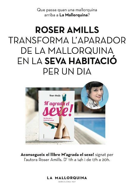 13-6-2013 | Roser Amills convierte el escaparate de La Mallorquina en su habitación por un día