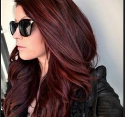 warna rambut mahogany brown yang keren