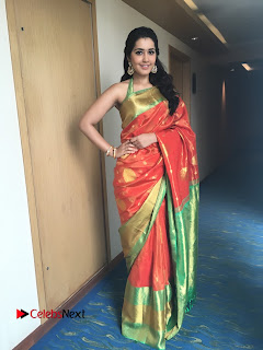 Actress Raashi Khanna Latest Pictures in Silk Saree  0005