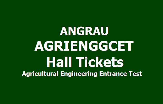 ANGRAU Agricultural Engineering Entrance Test Hall tickets (AGRIENGGCET) 2019