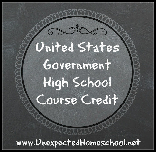 U.S. Government High School Credit for homeschoolers