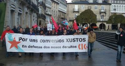 concentración de delegados e delegadas da CIG en Lugo (14/12/2015)