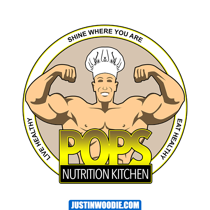 Pops Nutrition Kitchen Graphic Logo Design