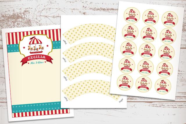Kits Imprimibles para Fiestas de cumpleaños infantiles