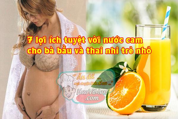 Khi mang thai có nên uống nước cam không