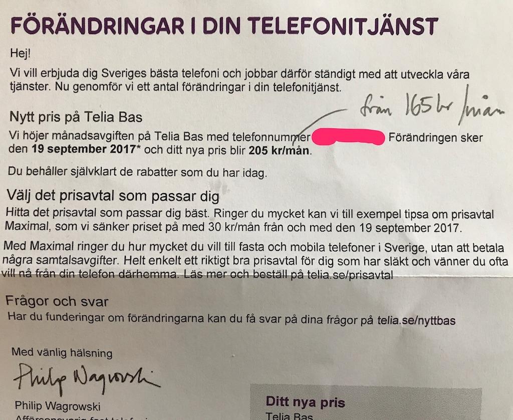 telia sverige telefonnummer