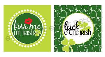 st pattys day art, kiss me i'm irish, luck o the irish, st pattys day party