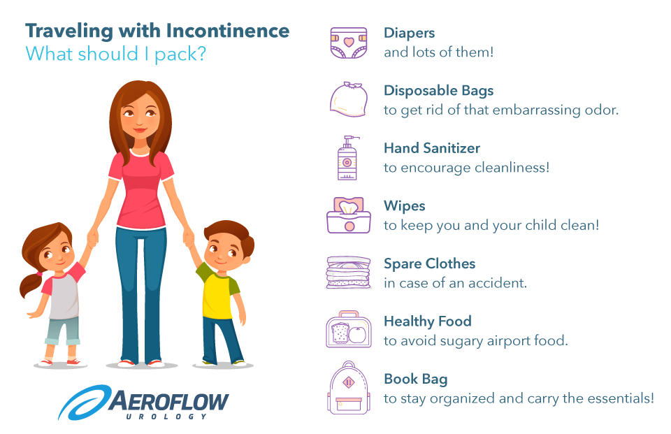 Traveling with Pediatric Incontinence #infographic