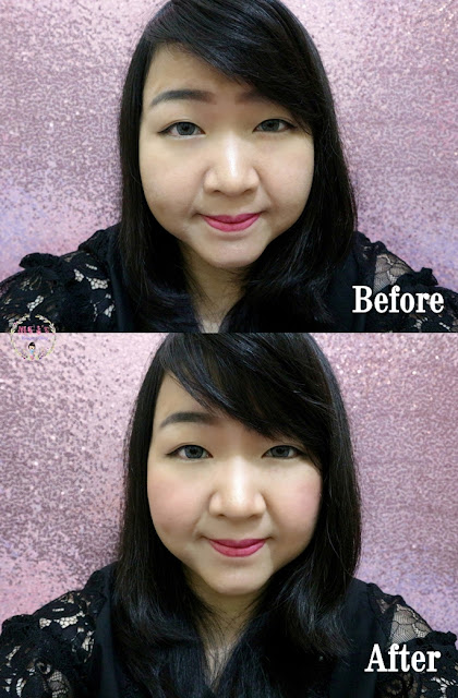 DISSY Cheek Palette Before After