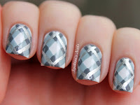 Argyle Plaid Nail Design