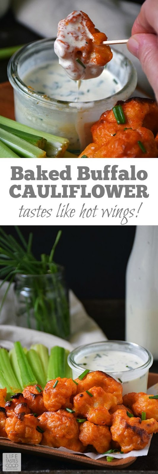 Baked Buffalo Cauliflower Bites
