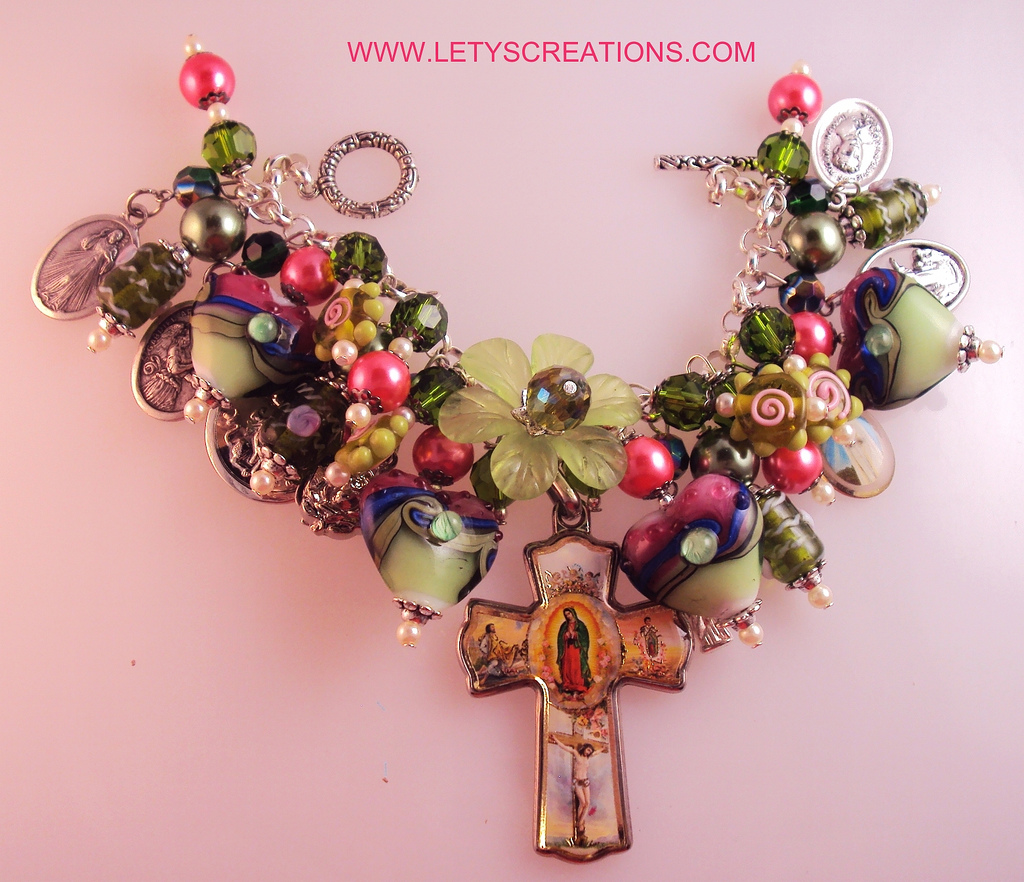 Religious Charm Bracelet: Lety's Creations: Catholic Our Lady Of Guadalupe, Saints