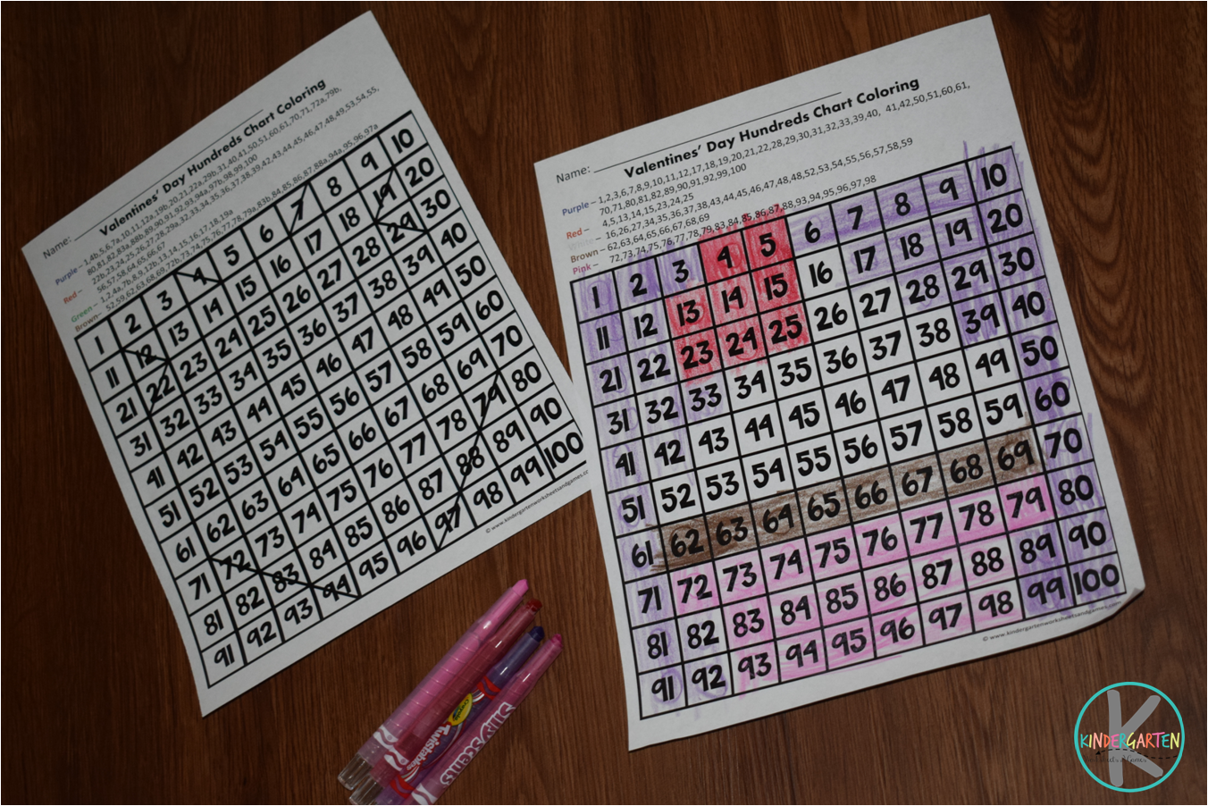 Kindergarten Worksheets And Games Free Hundreds Chart